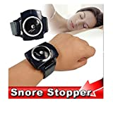 DASHUHUWAI Snore Stopper Intelligent Wrist Anti Snoring Cessation Sleeping Aids(black)