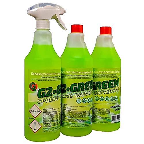 Desengrasante industrial neutro limpiador profesional de superficies ideal para la limpieza de azulejos, paredes lavables, suelos, mesas, cocinas producto biodegradable gama eco 1L + 2 RECAMBIOS
