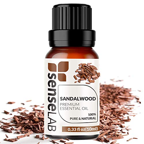Sandalwood Essential Oil - Made in India - 100% Pure Extract Sandalwood Oil Therapeutic Grade (0.33 Fl Oz / 10 ml)