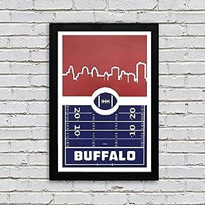 "Buffalo Bills Football Retro Art Print/Poster - 13x19"""