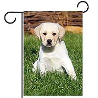 庭の装飾の屋外の印の庭の旗の飾りラブラドールの子犬 テラスの鉢植えのデッキのため