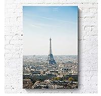 世界的に有名な都市景観パリニューヨーク装飾都市ビルホテルアパートメント 40×60フレームなし