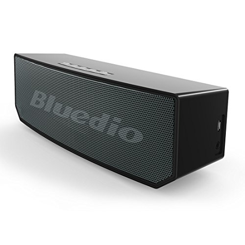 Bluedio BS-5 (Camel) Portable Bluetooth Wireless Stereo Speakers with Microphone for Cell Phone/TV/PC/Calls Portable Bluetooth Home Gift (Black)