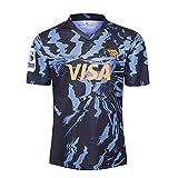 YINTE Jaguars Jaguars Jaguars Coupe du Monde Jersey De Rugby, T-Shirt Graphique De Coton De Coton De Coton De Rugby pour Hommes, Fans De Supporters Rugby Vêtements De SPOR Blue-M