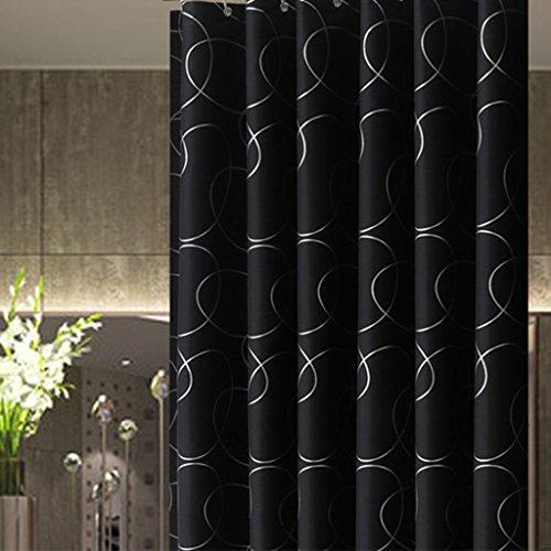 Xin Yu Yue Firm Rideaux de Douche épaississant Bain de moisissure étanche Coupe Rideaux (Couleur: Noir, Taille: 200 * 200cm) (Taille : 180 * 200cm)