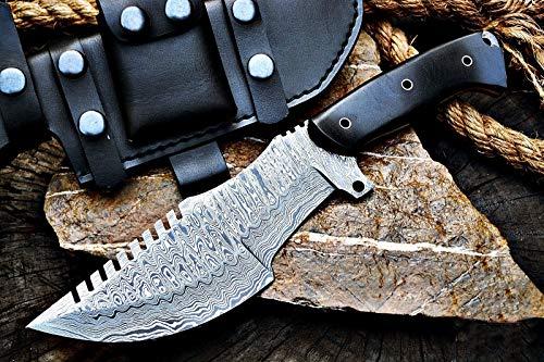 BIGCAT ROAR Custom Handmade Survivor Tracker Knife Tactical Survival Fully Functional 12'' Overall with Right Hand Sheath
