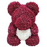 Selotrot Rosa Orso, Amore Cuore Spugna Rosa, Fiore Carino Orso San Valentino Giorno Compleanno Romantico Gift25cm - Vino Rosso