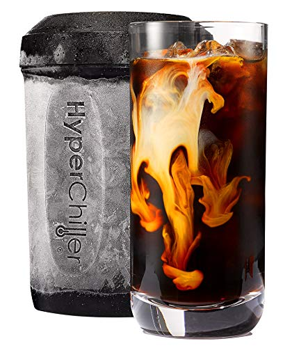 HyperChiller by Maxi-Matic HC2 Patented instant Coffee/Beverage Cooler, Ready in One Minute, Reusable for Iced Tea, Wine, Spirits, Alcohol, Juice, 12.5 OZ, Black