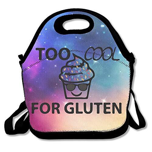 Too Cool Tasche für glutenfreie Cupcake-Sonnenbrille, Lunchbag Handtasche Wincan für Schule, Arbeit, Outdoor