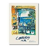 Picasso Matisse Chagall obra de arte abstracta clásica, carteles de viaje, arte de pared, pinturas en lienzo para la decoración de la sala de estar A1 15x20cm