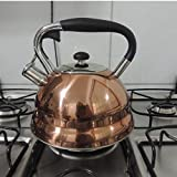 Chaleira Com Apito Inox Bronze 3L