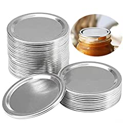 Set content: our product is only the 24 mason jar lids(the band is not included), sufficient enough for your daily needs and replacements Size details: diameter 2.7 inches / 6.8cm, compatible with most ordinary Regular-mouth mason jars, not compatibl...