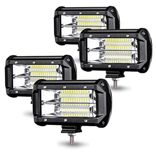 Aufun LED Arbeitsscheinwerfer 72W LED Zusatzscheinwerfer Offroad Scheinwerfer 21600LM 10-30V 6000K Arbeitslicht Wasserdicht IP67 (4 x 72W)