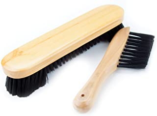 "Felson Billiard Supplies 8"" Nylon Bristle Wooden Pool Table Brush Set"
