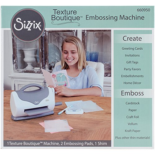 Sizzix 660950 Texture Boutique Embossing Machine, White and G