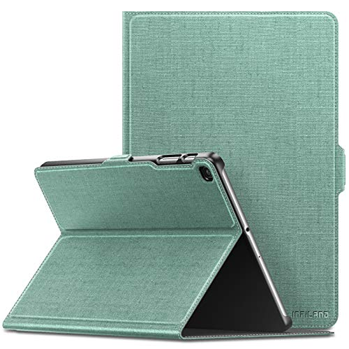 Infiland Samsung Galaxy Tab A 10.1 2019 Case, Multiple Angle Stand Cover Compatible with Samsung Galaxy Tab A 10.1 Inch Model SM-T510/SM-T515 2019 Release Tablet, Mint Green