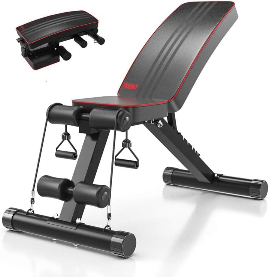 Best portable weight-bench: Yoleo Adjustable Weight Bench