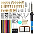 94 PCS Wood Burning Kit,Professional Woodburning Tool with Soldering Iron,with Adjustable Temperature 200~450 ? Soldering Pyrography Pen and DIY Various Wooden Kits Carving/Embossing/Soldering Tips