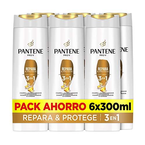 Pantene Pro-V Repara & Protege Champú, Acondicionador Y Tratamiento 3En1, Combate Al Instante Los Signos Del Daño, 6 x 300ml