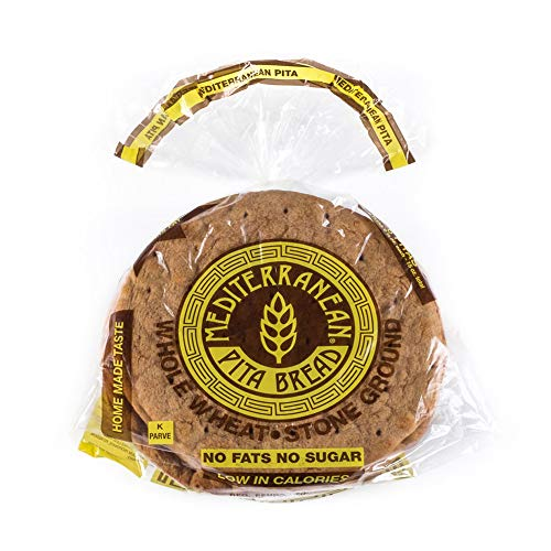 Mediterranean Whole Wheat Pita Bread 10 Pitas 3 oz each Pack of 3
