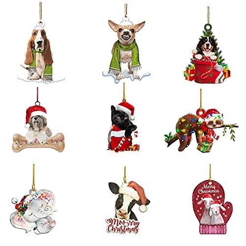 FEIZAO Anhänger Holz Weihnachtsdeko...