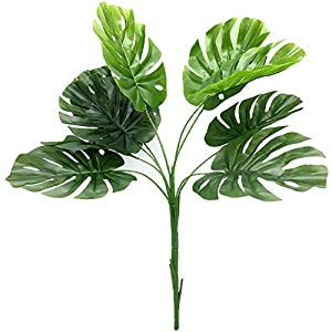 """Silk Flower Arrangements Fake Plants, CATTREE 28"""" Tall Faux Tropical Palm Tree Houseplants, Artificial Monstera Plant Trees for Home Decor Indoor Outdoor Garden Office House Living Room Wedding Greenery Decorations"""