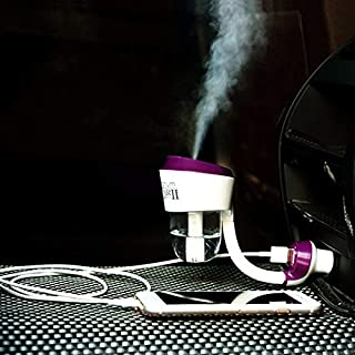 Air Humidifier Aroma Diffuser Car Humidifier Aromatherapy Diffuser Mist Maker Oil Diffuser Fogger with USB Hub USB Charge (1 USB, Purple1)