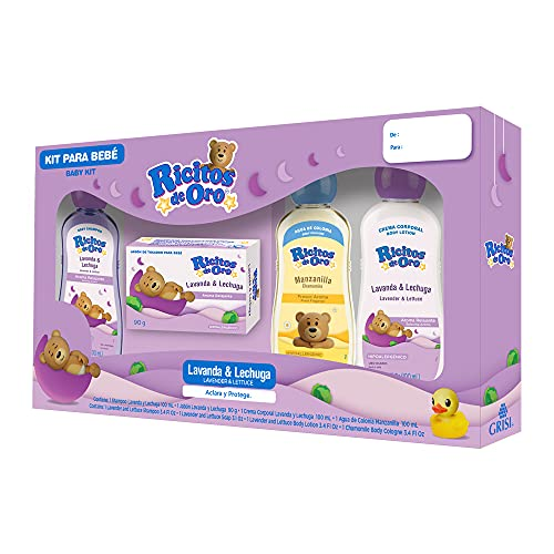 Ricitos de Oro Mini Kit Ricitos De Oro Lavanda, color, 4 count, pack of/paquete de