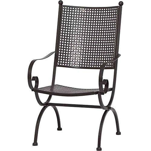 MBM 156123 Sessel Romeo Elegance hoch, 58 x 68 x 101 cm, Eisengestell marone, Flächenfarbe marone antik