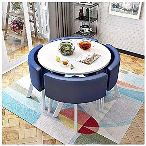 XKun Juego de mesa de cocina, todo tipo de mesas de tienda y combinaciones de sillas, 1 mesa, 4 sillas/simple combinación casual de mesa y silla