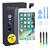 bokman for iPhone 6s White Screen <span class='highlight'>Replacement</span> <span class='highlight'>Parts</span> Full Display Assembly with Home button, Earpiece Speaker and Front Facing Camera Pre-assembled
