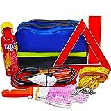 Car Kit De Emergencia, Rescate Multifuncional Conveniente Primeros Auxilios Set De 7 Piezas con Extintor De Incendios Alambre Cuerda De Remolque Etc, Adecuados para Auto SUV