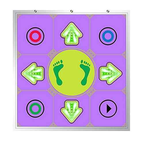 XYW Spielteppich Tanzmatte Für Kinder Erwachsene Einzelnutzer Tanzmatte,Glühen 3D Wireless Dancer Step Pads Spieldecke Matten Tanzmatten Musikmatte Dance Pad Mit PC Und TV