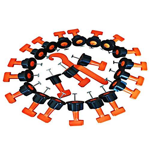 G-wukeer 50pcs Tile Leveller avec Clé Spéciale, Réutilisables pour Carrelage Système De Nivellement De Construction Kits pour Les Sols Les Murs