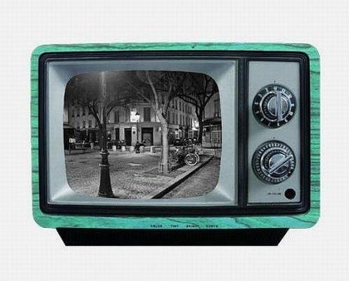 Casa - Marco de fotos, diseño: televisor, color: gris/azul, tamaño (marco total): B 27 cm x H 19 cm (PR8208-3): Amazon.es: Hogar