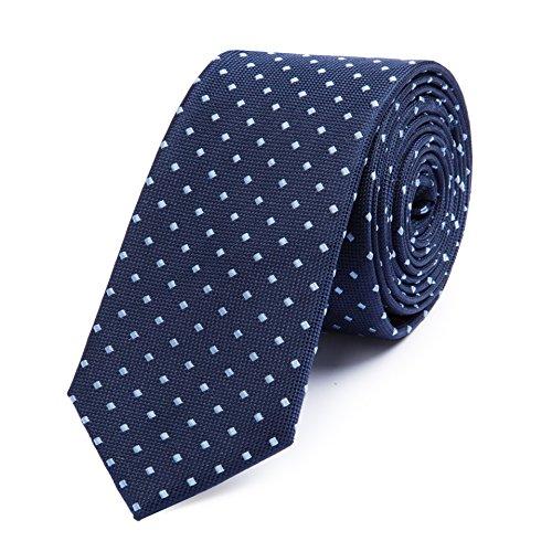 Bruce Field - Cravate fine en pure soie piquée à puces