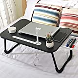 Laptop Bed Desk,Laptop Stand for Bed and Sofa,Breakfast Tray with Foldable Legs,Portable Foldable Laptop Table Bed Tray with Storage Drawer,Cup Holder,USB Charge Port