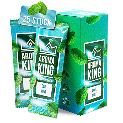 Aroma King - Premium Cool Mint Aromakarte 25er Set | Cool Mint Karte für unvergesslichen Flavour Geschmack | inkl. Schachtel zur Aufbewahrung der Mint Blättchen Karten