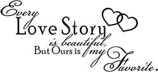 Every Love Story Vinyl Wall Quote Decal Marriage Love Family Decor Gift idea