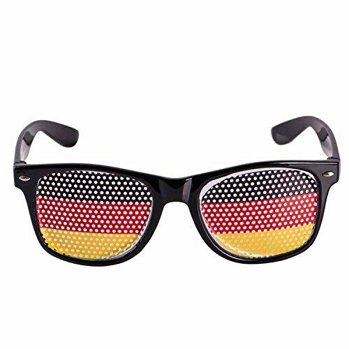 UMOI Deutschland Fanartikel zur Weltmeisterschaft 2018 WM in Russland - Deutschlandfahne, Brille, Schminke Fanmeile (Sonnenbrille)