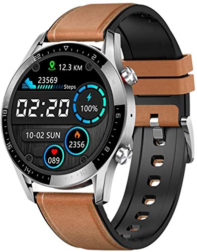 Reloj inteligente para hombre, IP68, impermeable, 1,28 IPS, pantalla redonda con llamada Bluetooth, ECG, PPG, impermeable