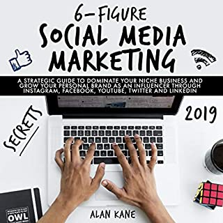 6-Figure Social Media Marketing Secrets 2019     A Strategic Guide to Dominate Your Niche Business and Grow Your Personal Brand as an Influencer Through Instagram, Facebook, YouTube, Twitter and LinkedIn              By:                                                                                                                                 Alan Kane                               Narrated by:                                                                                                                                 Curtis Wright                      Length: 3 hrs and 5 mins     Not rated yet     Overall 0.0