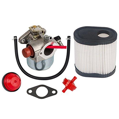 OuyFilters Carburador para cortacésped Tecumseh Toro Recycler 20016 20017 20018 6.75 HP Motores con Filtro de Aire para Tecumseh 36905 740083A LEV100 LEV115