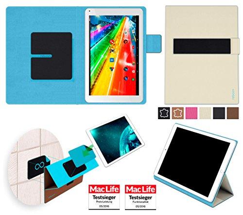 reboon Hülle für Archos 101c Platinum Tasche Cover Case Bumper | in Beige | Testsieger