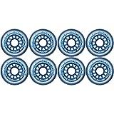 Blue Bellies 8 Inline Skate Wheels 76mm 78a, Clear/Blue