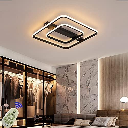 LED Lámpara de Techo 54W Moderna Cuadrada Plafon Techo Led Negro Moderno Regulable 3000K - 6500K Para Cocina Sala de Estar Dormitorio Pasillo Habitacion Comedor etc