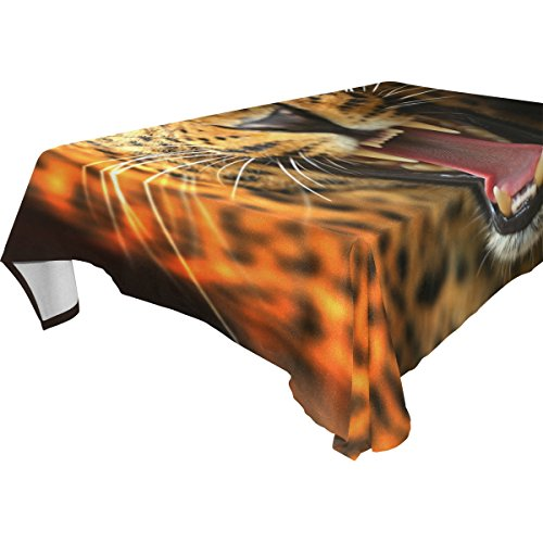 COOSUN Rectangle Leopard pour Party Mariage Nappe Vacances Lavable Polyester Tissu Table Couverture, 60 x 108 Pouces 60x108 (en) Multicolore