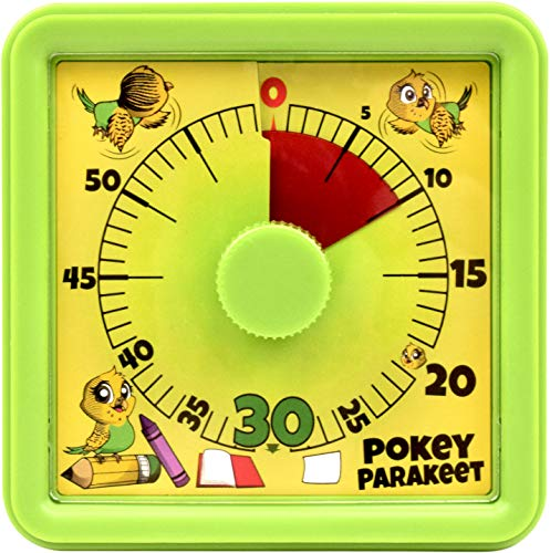 Pokey Parakeet Visual Timer: Classroom Homework Countdown Clock for Teachers Parents Children Students and Kids