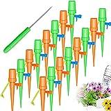 PAWT Set de riego automático, sistema de riego para plantas, ajustable, fácil de regar plantas de jardín, flores, riego, plantas, vacaciones, 12 unidades