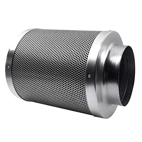 MERIGLARE Filtro de Carbón de Aire para Prefiltro de Ventilador en Línea Acero Inoxidable - 8 Pulgadas